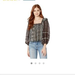 Free People Mostly Meadows Blouse